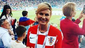 世界盃,克羅埃西亞,基塔羅維奇,Kolinda Grabar-Kitarovic,女總統(圖/翻攝自基塔羅維奇IG)
