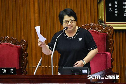 台北市議會議長吳碧珠。 (圖/記者林敬旻攝)