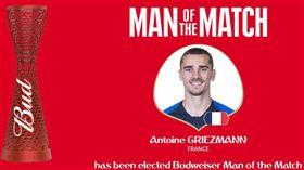 百分百點球 格里茲曼成法國奪冠英雄 世足,世界盃,法國,格里茲曼,Antoine Griezmann,點球,十二碼 翻攝自世足官網