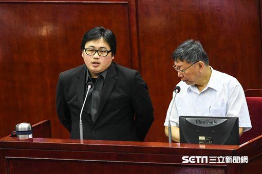台北市政府發言人劉奕霆。 (圖/記者林敬旻攝)