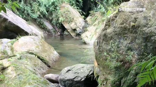 台中太平仙女瀑布,溺水、溺斃戲水示意圖