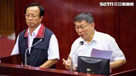 台北市長柯文哲、警察局長陳嘉昌。 (圖/記者林敬旻攝)