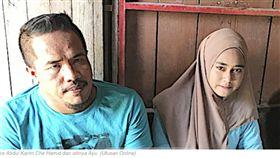 41歲男娶11歲妻 「她是7歲蘿莉就想娶了」(圖/翻攝自Pokjol Network)