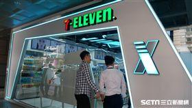 統一超商,X-STOTE,無人店,無人小七。(圖/記者馮珮汶攝)
