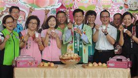 梨山水蜜桃上市 促銷吉祥物命名樂桃桃