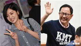 學姐、學姊黃瀞瑩、丁守中 合成圖/記者林敬旻攝影