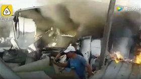 墜機瞬間!機翼炸出火球斷多節直墜地 致1死20傷