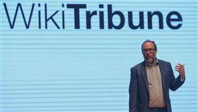 維基百科創辦人出席數位創新論壇(2)維基百科創辦人威爾斯(Jimmy Wales)19日在台北出席ABAC數位創新論壇(DIF),並發表演說。中央社記者徐肇昌攝  107年7月19日