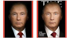 川普,普丁,合成照,時代雜誌,Time(圖/翻攝自TIME推特)