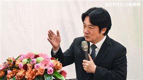 行政院長賴清德出席首長災害防救交流分享座談會。 (圖/記者林敬旻攝)