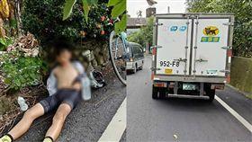 單車弟中暑…黑貓司機急救援被讚翻 圖翻攝自爆料公社