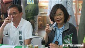 總統蔡英文,台東曲禾酒莊。(圖/記者盧素梅攝)