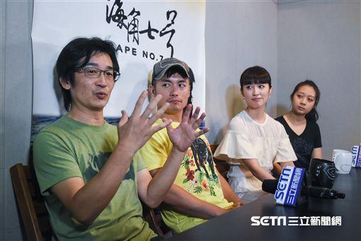 海角七號專訪,導演魏德聖、范逸臣、田中千繪、大大安乙蕎。 圖/記者林敬旻攝