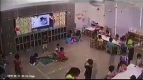 幼兒園,監視器,腦震盪,台中(翻攝畫面)