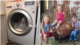 美國科羅拉多州,謬佛爾夫婦,滾筒式洗衣機(圖/翻攝自Lindsey McIver臉書)