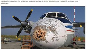 「機頭破洞」照飛!俄客機頂過雷雨平安降落 圖/翻攝自西伯利亞時報