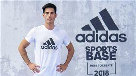 「台灣最速男」楊俊瀚親身指導adidas runners進行基礎體能訓練。(圖/adidas提供)