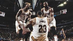 Smith、Thompson與LeBron James(圖/翻攝自JR Smith個人IG)