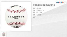 ▲中華棒協比賽用球就是亞運用球。(圖/截自中華棒協官網)