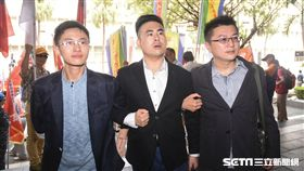 王炳忠、侯漢霆、林明正等人涉違國安法調查庭。 (圖/記者林敬旻攝)