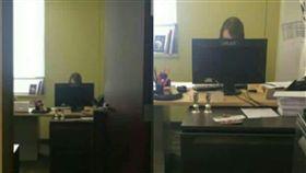 全勤,OL,辦公室,扮工室,頭像(圖/翻攝自爆廢公社)