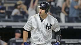 ▲紐約洋基捕手Gary Sanchez守備、跑壘被批評不積極。(圖/美聯社/達志影像)