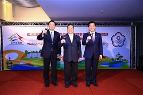 林佳龍 東亞青運 去年中國奧會副主席楊樹安(左)來台參加2019東亞青運籌備。圖/台中市政府提供
