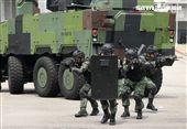 憲兵實施反斬首戰力、反恐制變快速反應能力提升城鎮戰鬥演練。(記者邱榮吉/攝影)