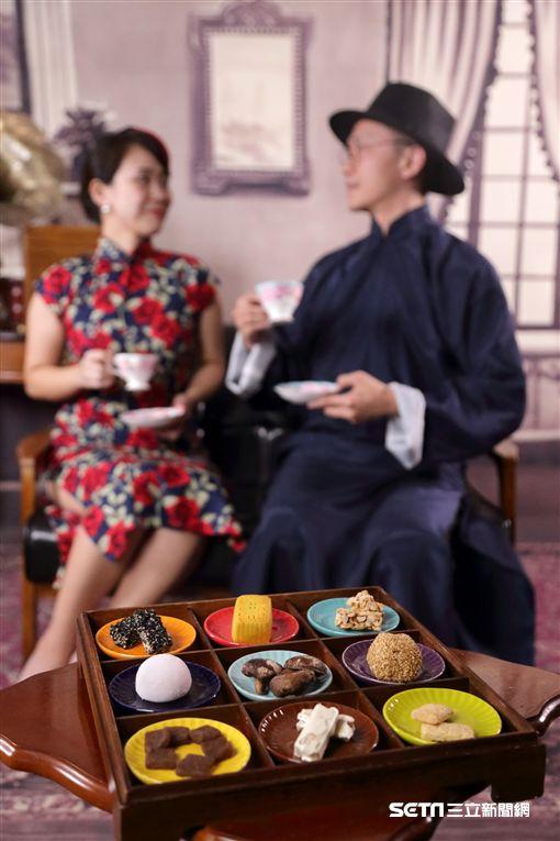 七夕情人節,旗袍,馬褂。(圖/台北晶華提供)