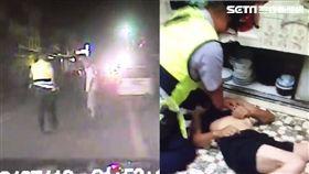 南投警深夜狂奔CPR救昏倒男/翻攝畫面
