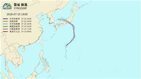 雲雀颱風怎麼走?各國預測路徑出爐 圖/翻攝天氣與氣候監測網