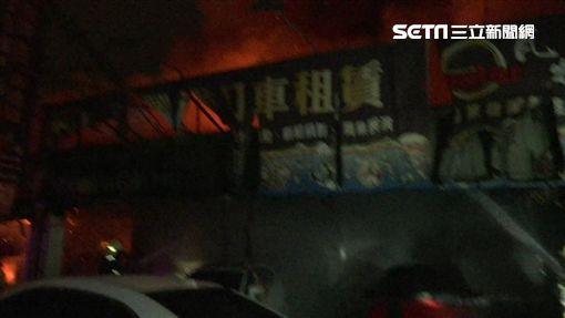 台中商店街火警 名車燒光光