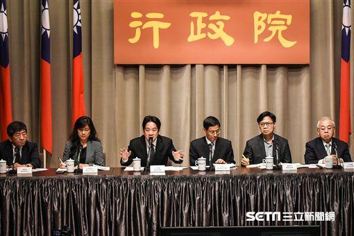 行政院長賴清德出席行政院會後少子女化記者會。 (圖/記者林敬旻攝)