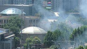 美國駐北京大使館驚傳爆炸 圖/推特