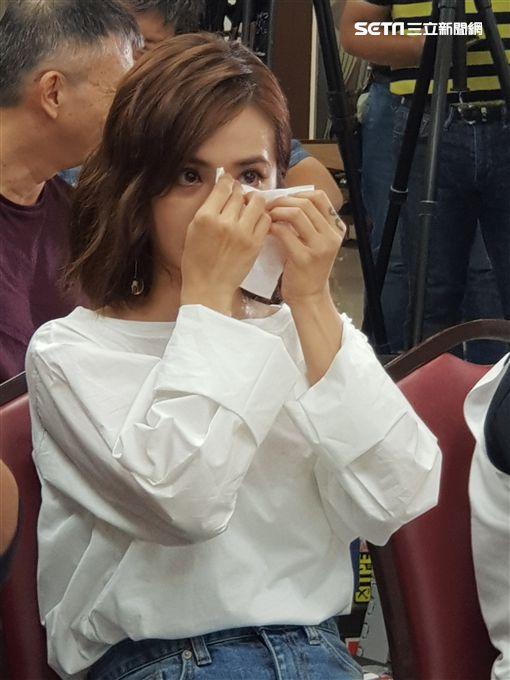 蔡依林出席家扶基金會活動淚崩。 圖/記者李依純攝影