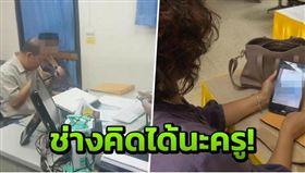 ▲女學生媽媽到警局檢舉(圖/翻攝自泰國世界日報)