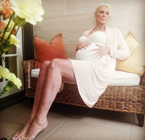 55歲女星高齡產女(圖/翻攝自Brigitte Nielsen IG)