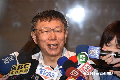 台北市長柯文哲出席都更論壇。 (圖/記者林敬旻攝)