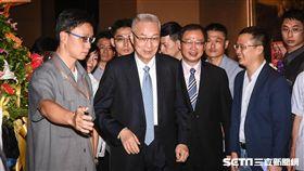 前副總統吳敦義出席馬英九基金會成立茶會。 (圖/記者林敬旻攝)