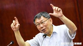 台北市長柯文哲赴市議會備詢。 (圖/記者林敬旻攝)