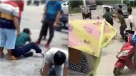 好人難當!問路男請女童喝飲料 竟被當「誘拐犯」當街圍毆 圖/翻攝我們視頻