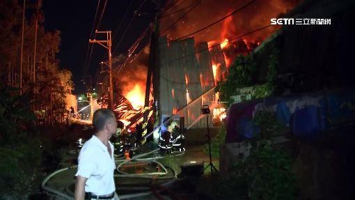 板橋8間鐵皮工廠大火燒毀 蘆洲也聞到焦味