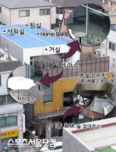 張紫妍陪睡屋曝光/翻攝自首爾體育