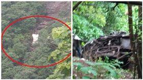 印度一輛巴士墜谷釀33死(圖/翻攝自推特)