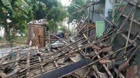 印尼龍目島強震(圖/翻攝自推特)