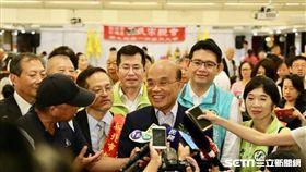 蘇貞昌出席在新北市政府大樓舉辦的黃氏宗親會活動。(圖/蘇辦提供)