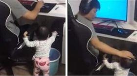 堪稱地表最強小三就非家中的女兒莫屬了!日前,有名網友在臉書社團「爆笑公社」上傳一段影片,小女孩誤觸關機鍵,正在打電動的爸爸僅轉過頭,摸了摸寶貝女兒的溫馨互動。(圖/翻攝自YouTube 爆料公社5.0)