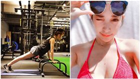 混血女神,許維恩,比基尼照,運動,健身(圖/翻攝自許維恩Instagram)