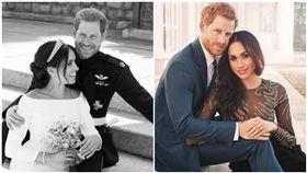 梅根,哈利王子,英國,皇室,生日,岳父(合成圖/翻攝自微博、推特)