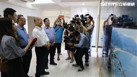 新北市長候選人蘇貞昌今(31日)受邀拜訪萬里區漁會 蘇貞昌選辦提供